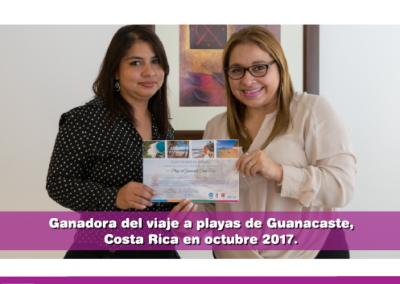 Ganadora Viaje Costa Rica